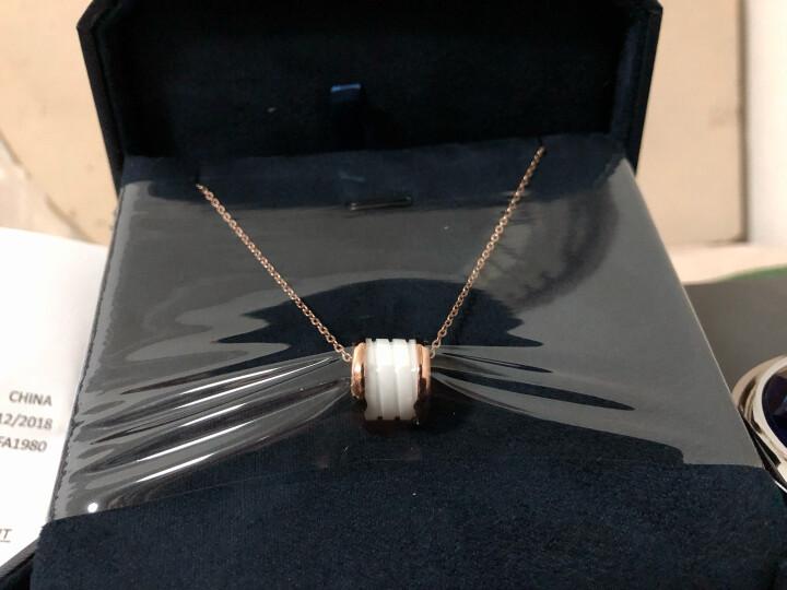 法蔻(farcoko) 轻奢品牌项链男女款情侣LOVE钛钢弹簧陶瓷锁骨链韩国时尚镀彩金 象牙白 晒单图