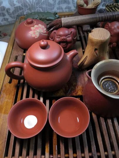 吉羊 宜兴紫砂壶茶道配件 品茗茶杯小杯子4只装 40毫升/只 清水泥款 晒单图