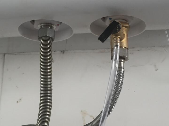 美的(Midea)2100W大功率电热水器80升 节能保温型 加长防电墙 蓝钻内胆8年包修F80-21WA1 晒单图
