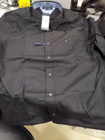 汤米/TOMMY HILFIGER新款男装修身版棉纯色男士衬衫衬衣【现货可发!】 423 亮蓝 L 晒单图
