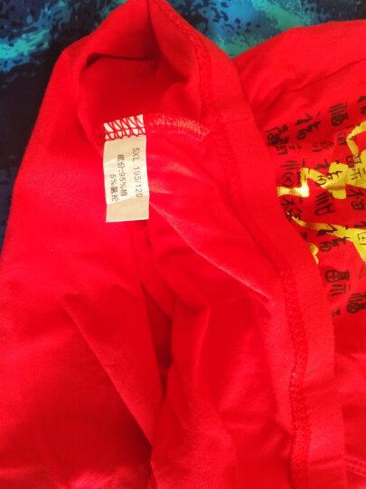 南极人男士内裤男本命年大红色大码肥佬裤平角内裤中腰四角裤头2020鼠年礼盒装男式红色婚庆款 一帆风顺礼盒装-纯棉(L到6XL) XL(110-130斤) 晒单图