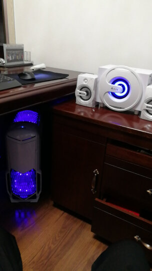 金河田(Golden field) Q8电脑音响多媒体蓝牙音箱电脑家用台式笔记本家用低音炮重低音 黑色基础版 晒单图