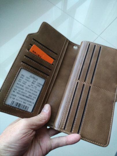 迪德DiDe 男士钱包头层牛皮复古长款多功能拉链钱夹卡包 DQ736油蜡棕 晒单图