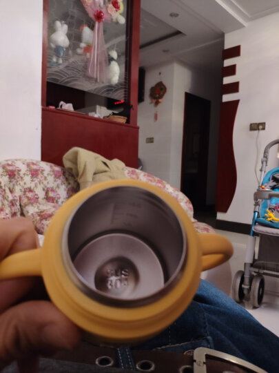 樱舒(Enssu)婴幼儿学饮杯保温水杯儿童婴儿饮水杯喝水不锈钢杯子ES3103 晒单图