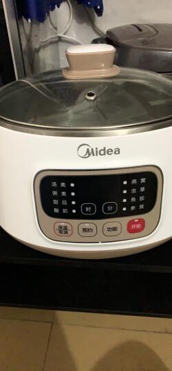 美的(Midea)电炖锅电炖盅煮粥锅双炖锅4.2L一锅四胆钢胆煲汤养生多功能锅陶瓷智能预约隔水炖WBZS162 晒单图