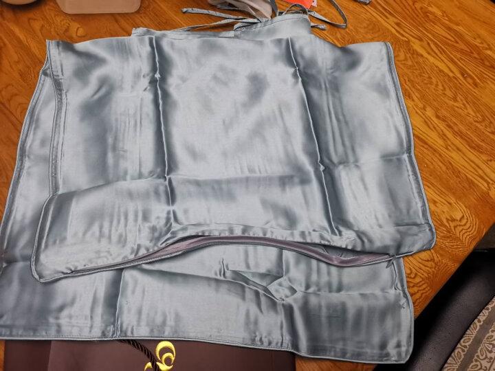 百年六合真丝枕巾100%桑蚕丝丝绸枕巾真丝提花纯色枕巾50x80三对系带尺寸可订制单只装 细雪之舞 50*80cm 晒单图