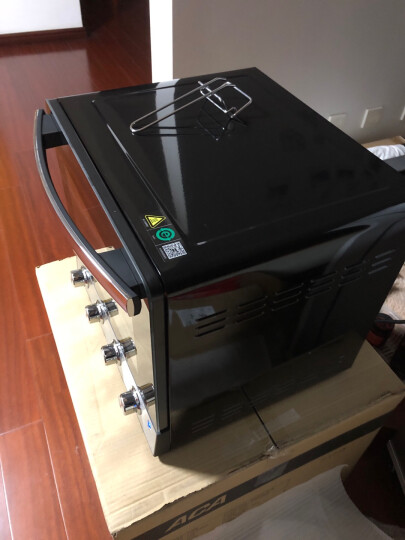 北美电器(ACA)电烤箱立式家用38L大容量专业烘焙易操作背部涡轮热风独立控温低温发酵ATO-M38AC 晒单图