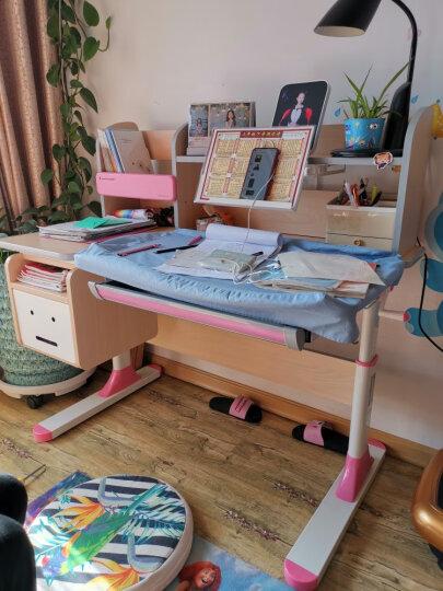 学习桌 儿童学习桌椅 儿童书桌实木学习桌 小学生写字桌椅套装 写字桌 组合可升降 蓝色1.2M净醛款书桌+双背扶手椅(实木) 晒单图