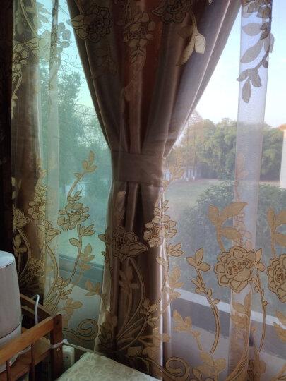 金蝉窗帘炭化印花遮光窗帘欧式 客厅卧室窗帘成品布料纱帘 喜结良缘 喜结良缘-柠檬黄(布+纱) 0.1米补拍 晒单图