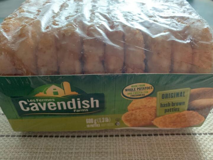 凯文迪施 原味薯饼 600g  速冻菜肴 半成品菜 加拿大进口(Cavendish)方便速食(早餐 午餐 晚餐 夜宵) 晒单图