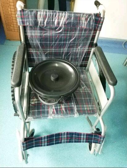亿佰康轮椅车折叠轻便携 老年人残疾人手推动代步车 带坐便餐桌便盆桶刹车 轮椅红格 晒单图