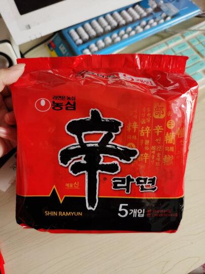 韩国进口 农心 辛拉面 速食食品 袋面 非火鸡面 网红熬夜加班休闲零食 懒人食品 五连包120g*5包 晒单图