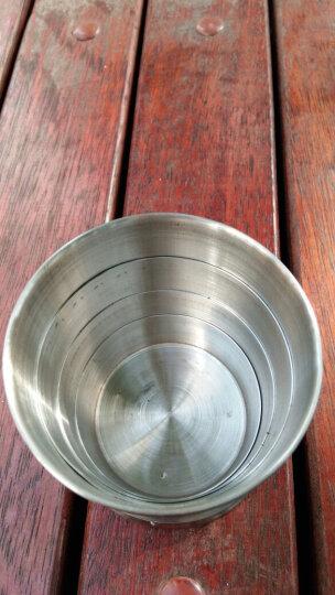 加加林JA-24不锈钢折叠杯/伸缩杯/旅游杯/水杯/酒杯大号四节杯 晒单图