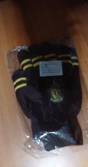 馨颜 手套 圣诞节礼物哈利波特四学院带徽章手套 周边用品秋冬加厚双层加绒保暖手套 斯莱特林-加绒加厚款 晒单图