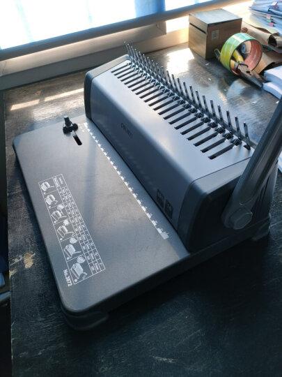 得力(deli) 21孔装订机 胶圈装订机 多孔打孔机 财务凭证装订机 A4纸资料打孔机装订机 铁圈装订机(15张/次)3889 晒单图
