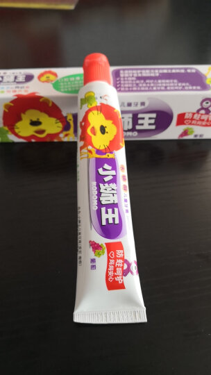 狮王(Lion)小狮王木糖醇儿童牙膏40g(草莓) 晒单图