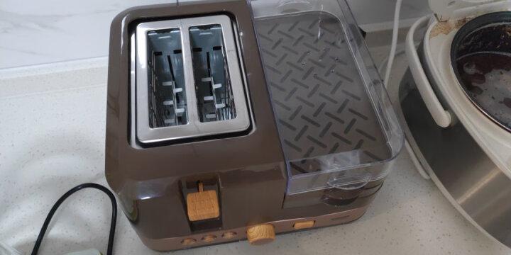 Finetek(法电)多士炉家用早餐机吐司机烤面包机6档烘烤煮蛋器全自动烤三明治机四合一早餐机 咖啡 晒单图