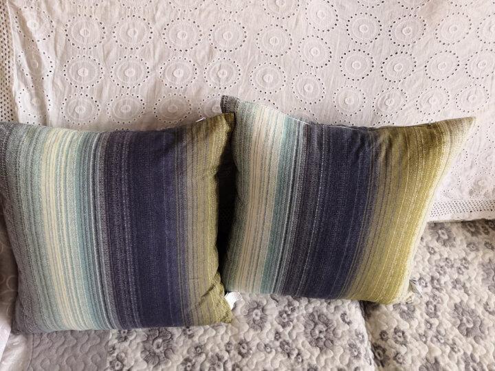 飞天 帆布办公室靠枕头 沙发抱枕套含芯 床头汽车载护腰靠背垫 酷炫灰 55*55cm(抱枕套+芯) 晒单图
