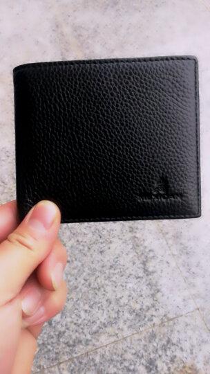 稻草人Mexican男士钱包经典简单款横夹男式钱夹头层牛皮薄款钱包短款钱包MSJ30722M-03黑色 晒单图