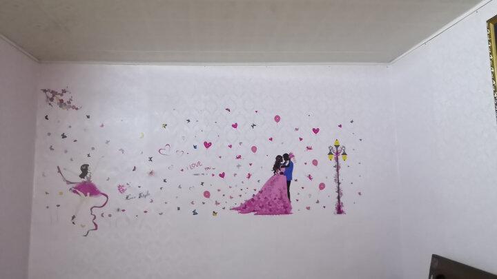 麦朵 女孩少女心墙贴画贴纸儿童房卧室房间宿舍客厅墙面装饰品壁纸墙纸自粘 14.路灯下的婚礼 特大号 送蝴蝶贴纸 晒单图