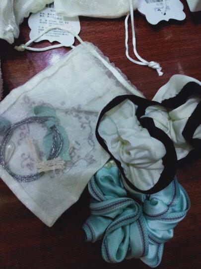 SPECIAL欧美手工防滑弹力甜美花朵减龄衬肤多绳发饰头饰女发圈发绳头绳 玫瑰花物语 2020新款 绿色 晒单图