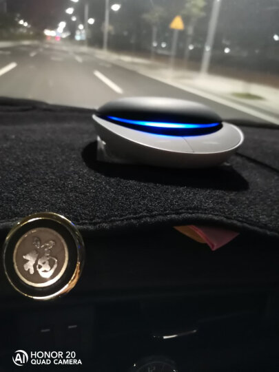 发挥车载空气净化器太阳能汽车氧吧除甲醛车内车用车上除烟味异味雾霾负离子活性炭PM2.5 圆形时尚光面白色 晒单图