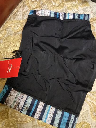 李宁(LI-NING)泳裤套装 泳镜泳帽 近视泳镜套组 LSJK666-1黑色 黑色550度 XXL 晒单图