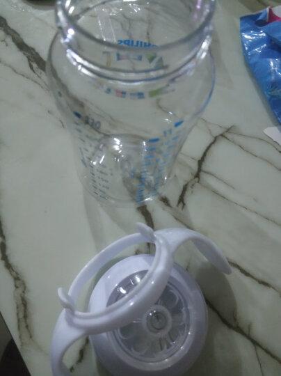 飞利浦新安怡 奶瓶 玻璃奶瓶 新生儿仿母乳硅橡胶奶嘴宽口径4oz 120ml自带0月+奶嘴 进口 SCF671 晒单图