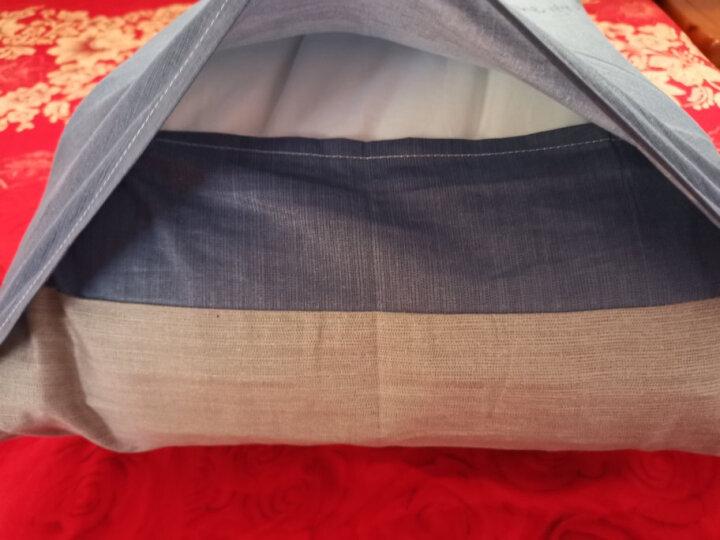 艾薇(AVIVI)全棉枕套40支纯棉斜纹印花枕头套1个装48 74迷离夜色 晒单图