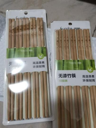 双枪创意竹筷 家用无漆无蜡碳化筷子不易发霉 厨房中式餐具套装10双装 金鱼十双装 晒单图