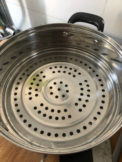 美厨(maxcook)三层蒸锅28CM 不锈钢蒸锅加厚复底蒸煮两用 电磁炉燃气炉煤气灶通用MZB-28 晒单图