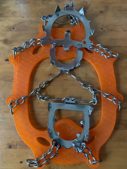 公狼户外冰爪登山攀岩鞋钉链防滑鞋套12齿不锈钢雪爪装备 橙色. 晒单图