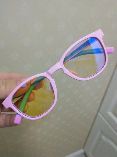 迪士尼(Disney)儿童眼镜防蓝光防辐射学生眼镜 男女小孩防辐射平光镜片眼镜 女孩款 粉红色 晒单图