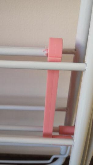 欧润哲 不锈钢晾衣架 翼型落地被子宝宝衣服晒衣架 室内外阳台晒衣杆 翼展126cm 玫红色 晒单图