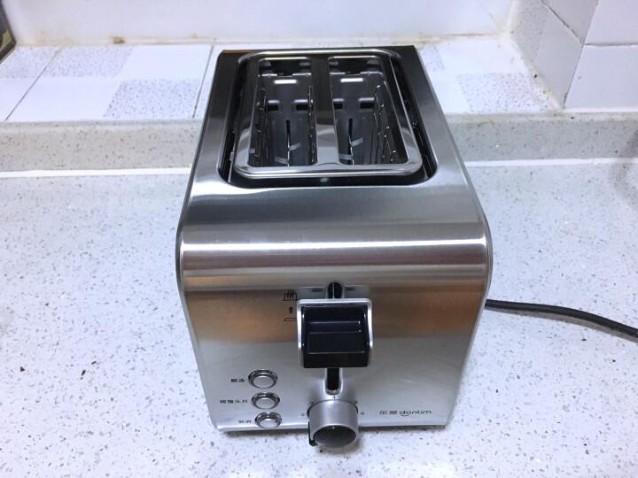 东菱(Donlim) 烤面包机全不锈钢多士炉 2片家用早餐机烤馒头吐司机三明治烤机DL-8117 晒单图