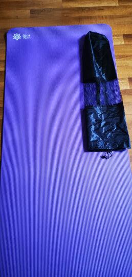 奥义升级瑜伽垫 男女185*80CM加宽加大加厚10mm专业健身垫防滑舞蹈垫 仰卧起坐运动垫 深紫(含绑带+背包) 晒单图