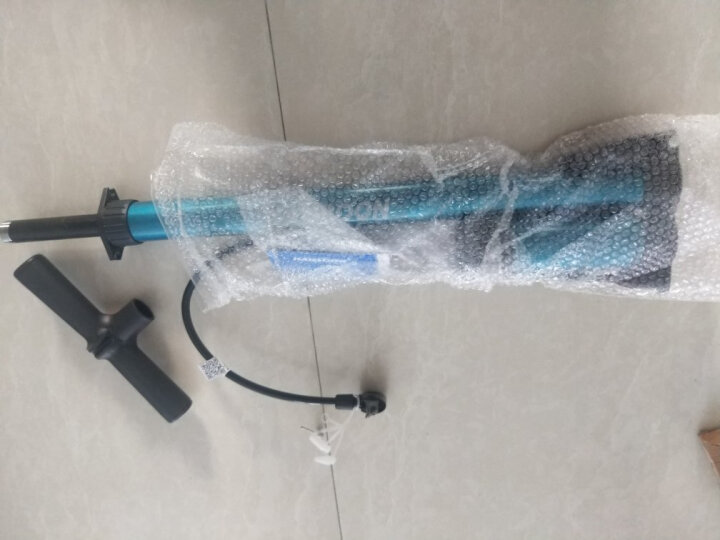 凯速KANSOON多功能高压自行车打气筒篮足气球泳圈充气美英法嘴带气压表F1002淡墨绿 晒单图
