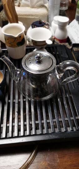 金镶玉 玻璃茶壶  高硼硅耐热防爆玻璃花茶壶凉水壶  如意壶500ML 晒单图