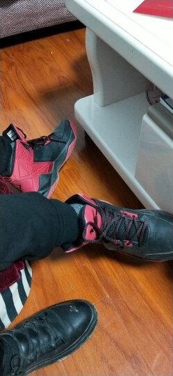 乔丹(QIAODAN) 篮球鞋男运动鞋男学生透气高帮减震耐磨黑骑士战靴运动篮球鞋 黑色/乔丹红 42 晒单图
