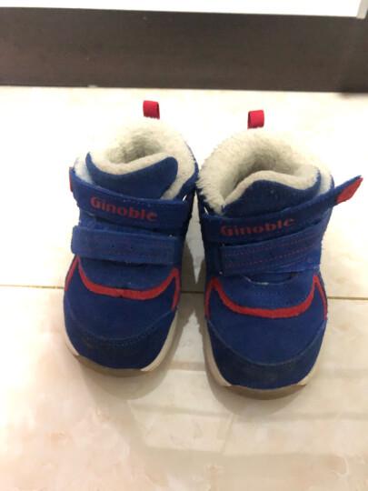 基诺浦Ginoble机能鞋 1-5岁男女宝宝保暖鞋 冬款羊毛加厚棉鞋TXG881 TXG881深蓝 4码/鞋垫长12.5cm 晒单图