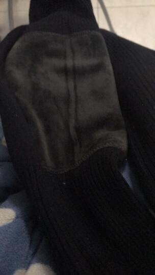 曼迪卡威护膝保暖关节炎骑车加长加厚加绒男女老人老寒腿防寒羊毛护腿加绒摩托车电动车运动护膝 灰色【双层加厚/膝盖加绒/防滑设计/送竹炭护膝】 短款 42厘米 均码 晒单图