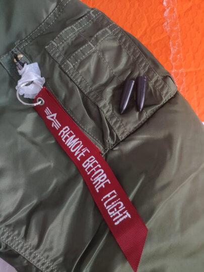ALPHA INDUSTRIES MA-1阿尔法飞行员夹克情侣厚款棉服工装夹克 黑色-美旗版 M 晒单图