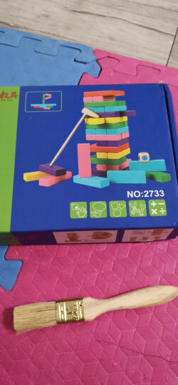 三格田(SANGTY) 叠叠高抽积木层层叠叠乐班木制质益智力玩具平衡游戏数字抽积木 (2908儿童版)54片汉字叠 晒单图