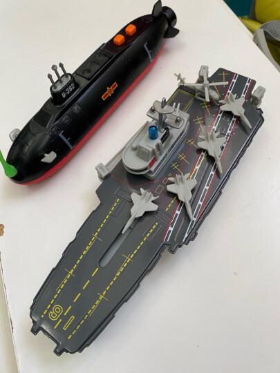 合金辽宁号航母模型玩具航空母舰仿真军事模型驱逐舰护卫儿童军舰回力船 合金航母+核潜艇 晒单图