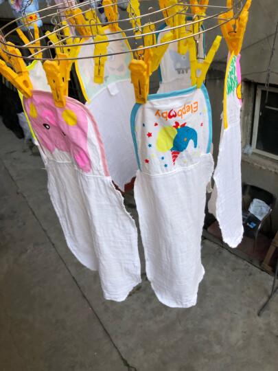 象宝宝(elepbaby)婴儿毛巾 纳米水洗纱布口水巾洗澡巾 新生儿宝宝6层加厚多用纱布毛巾32X55CM(5条盒装) 晒单图
