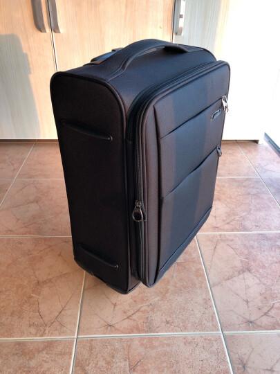 美旅拉杆箱  行李箱经典简约商务防泼水万向轮旅行箱密码锁登机箱 软箱21英寸大容量可扩展26B紫色 晒单图