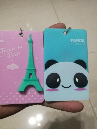 立体卡通公交卡套 交通卡夹 证件套 可爱门禁卡套 便携式钥匙扣 硬卡包 熊猫 晒单图