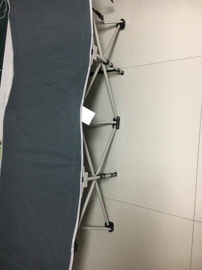 瑞仕达(Restar) 折叠床单人办公室午休床医院陪护简易床单人床户外午睡床躺椅  升级款扁方管+灯芯绒灰床垫 平头 晒单图