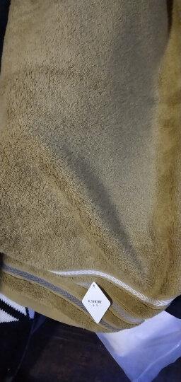 三利 纱布棉竹纤维AB版面巾 34×76cm 波西米亚风格洗脸毛巾 粉紫天蓝 晒单图