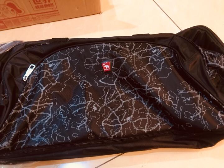 爱华仕(OIWAS)男女拉杆包 可扩容 可折叠大容量拉杆袋 8019 黑色 晒单图